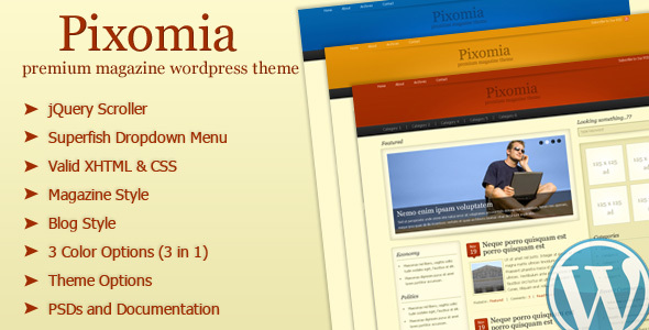 Pixomia - Premium Magazine Wordpress Theme - Blog / Magazine WordPress