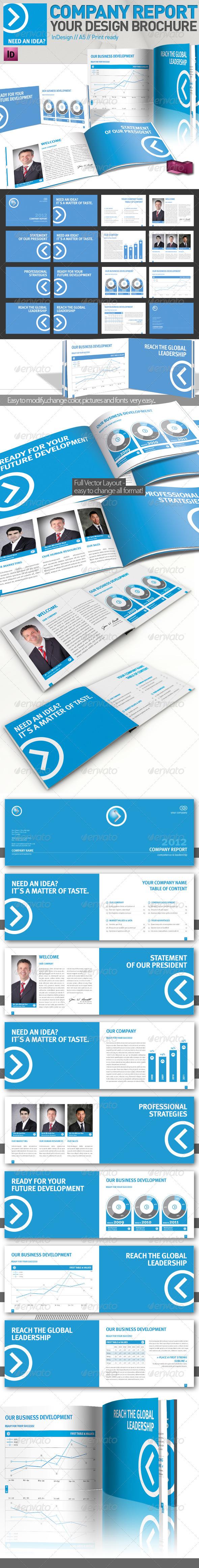 GraphicRiver Company Brochure Magazine Template A5 2067752