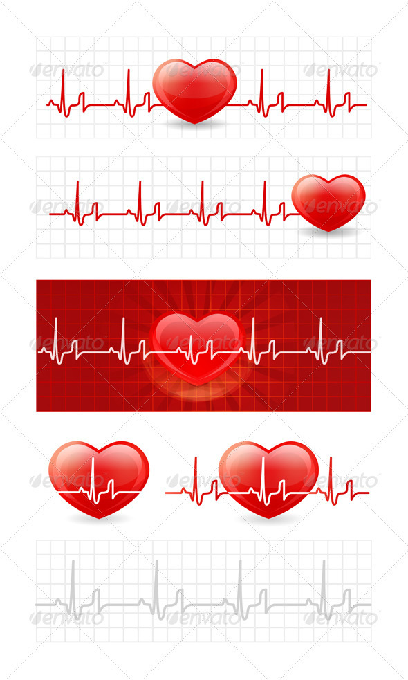 GraphicRiver Heart Cardiogram 2067919