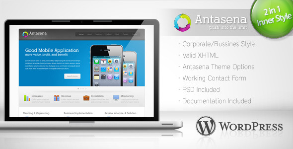 Antasena - Corporate Business Wordpress Theme 4 - Corporate WordPress
