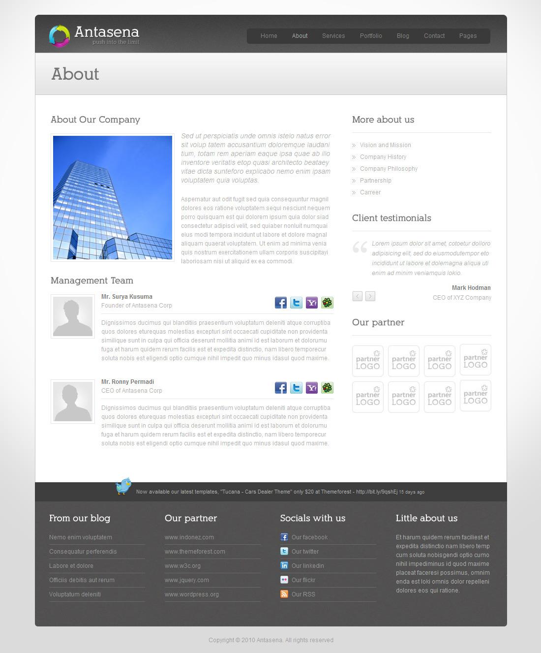 Antasena - Corporate Business Wordpress Theme 4