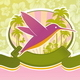 Travel Emblem with Hummingbird - GraphicRiver Item for Sale