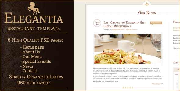 Elegantia Restaurant PSD Template - _ _ _ _ _ _ _ _ _ _ _ _ _ _ _ _ _