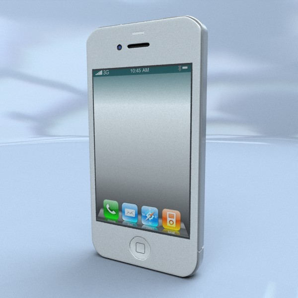 Iphone 4s 3d model - 3DOcean Item for Sale