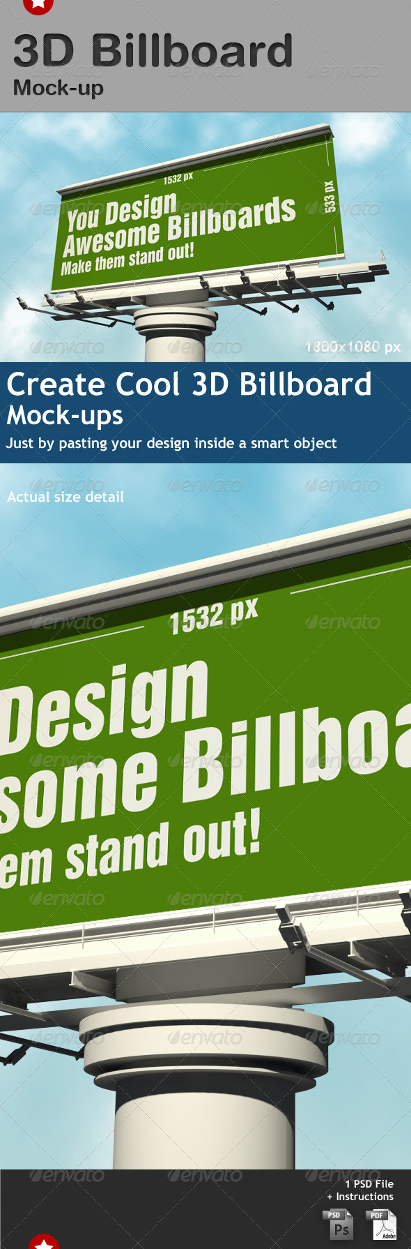GraphicRiver 3D Billboard Mock-up 2068640