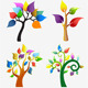 Download Vector Abstract Tree Icons