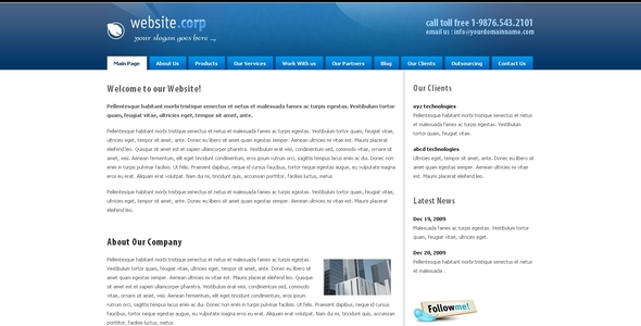 Image of Website Corp Drupal 6 Theme