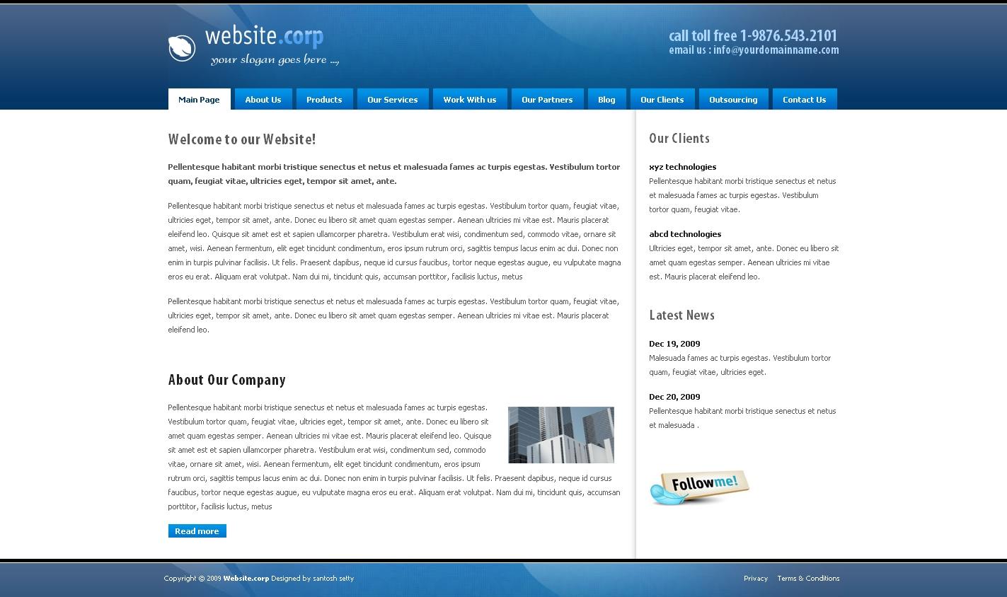 Website Corp Drupal 6 Theme