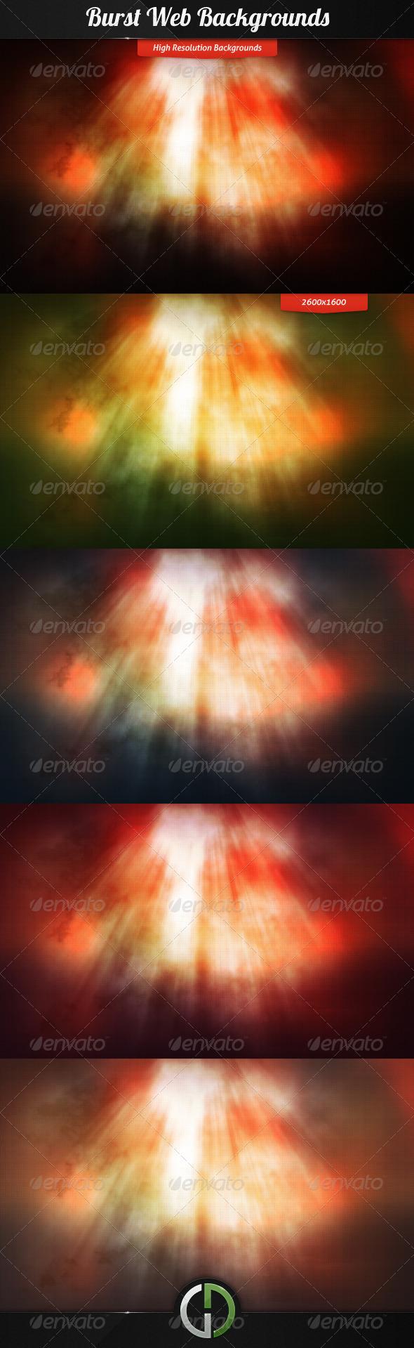 Burst Web Backgrounds - Backgrounds Graphics