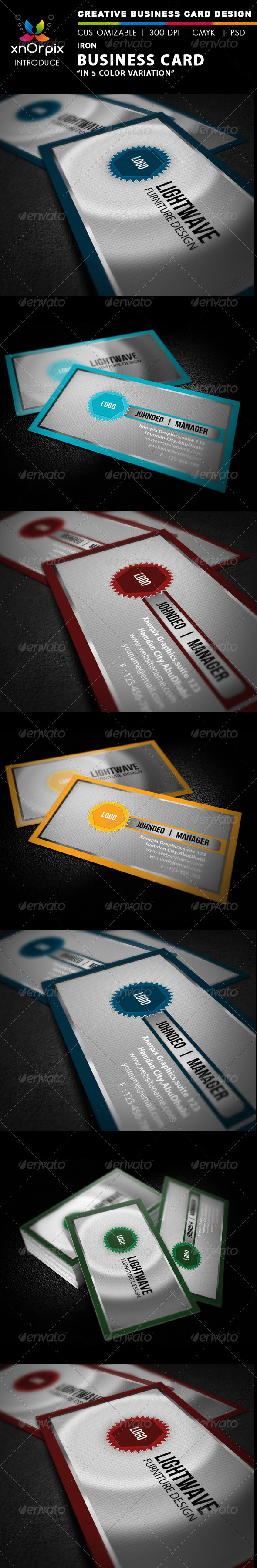 Iron Business Card - Corporate Business Cards
