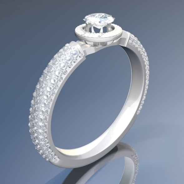 Diamond Ring 3D - 3DOcean Item for Sale