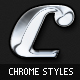 Chrome - 5 Clean Metallic Photoshop Styles - GraphicRiver Item for Sale