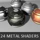 24 Metal Shaders for CINEMA 4D  - 3DOcean Item for Sale