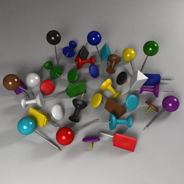 3DOcean Push Pin Pack 238287