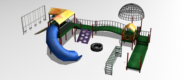3DOcean Lowpoly Playground Pieces 78767