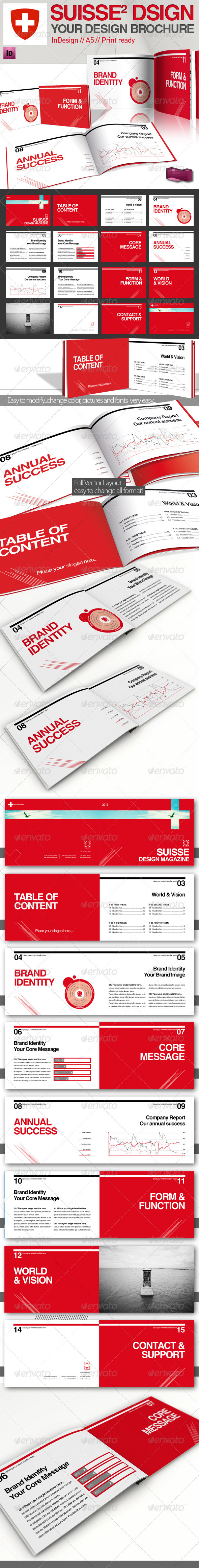 GraphicRiver Swiss Style Report Magazine A5 2072604
