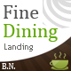 Fine Dining Landing - Food Retail