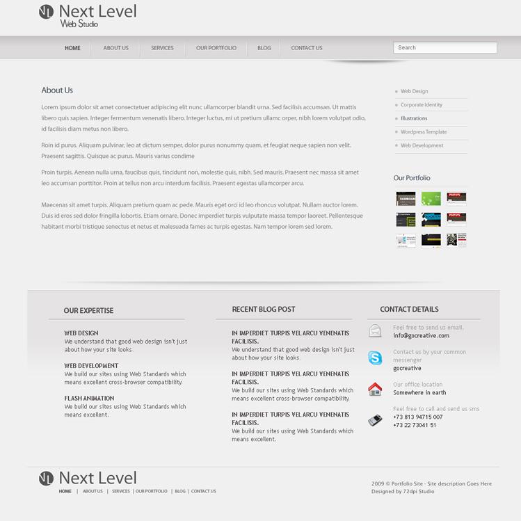 Next Level - A Premium PSD Template