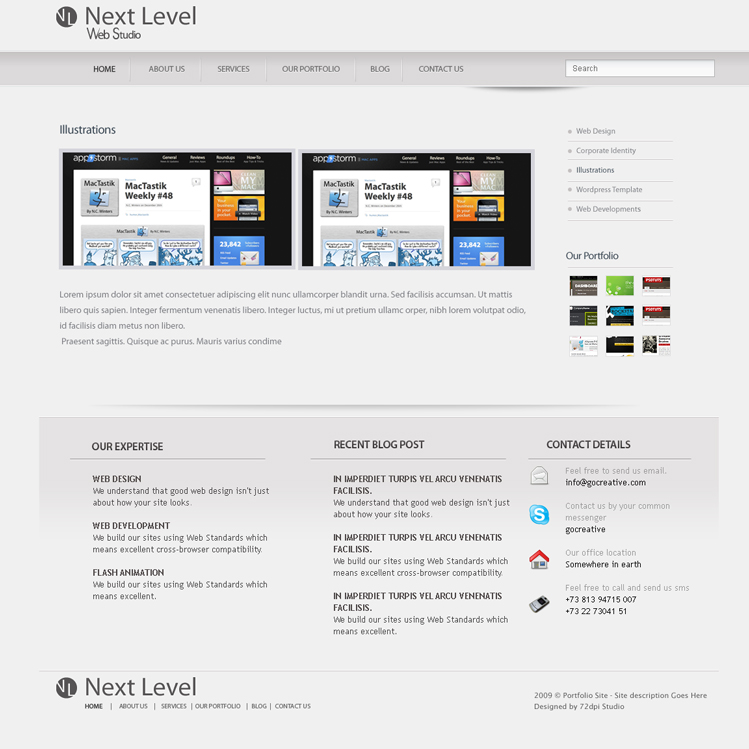 Next Level - A Premium PSD Template