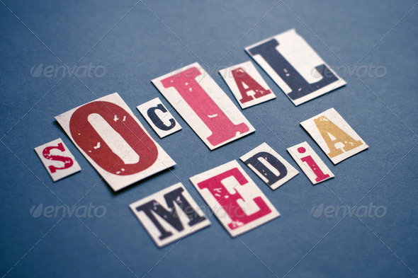 Stock Photo - PhotoDune Social Media Letters 2082436