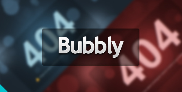 ThemeForest Bubbly Error Page 2075071