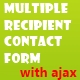 Multiple Recipient Contact Form with Ajax - CodeCanyon Item for Sale