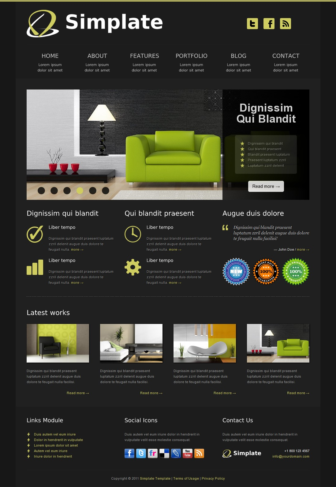 Simplate - HTML Business Template