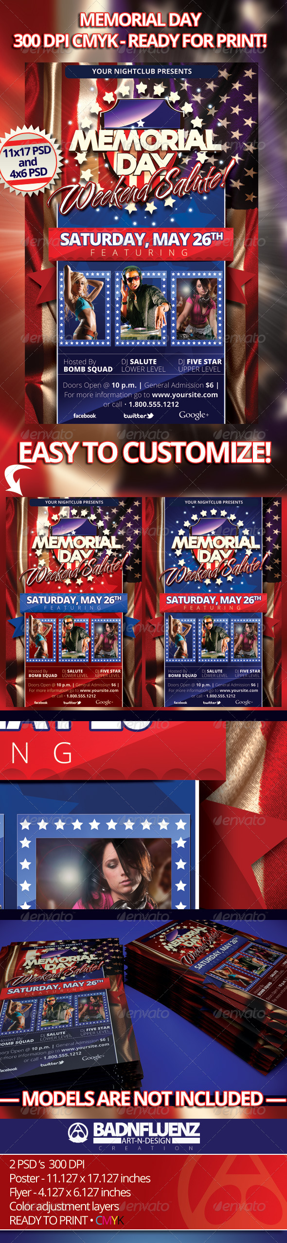GraphicRiver Memorial Day Flyers 2075757