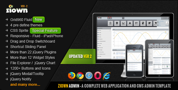 Ziown Admin - A Complete, Clean Admin Template