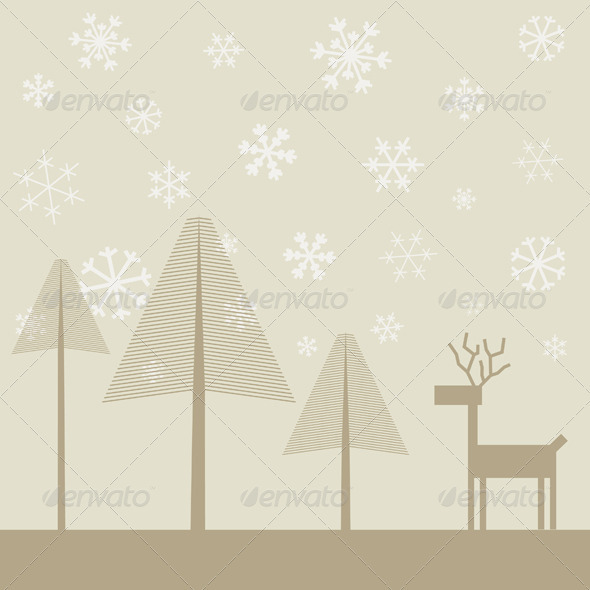 Deer in wood2