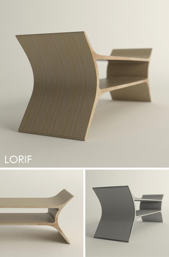 Punkalive Ranka bench - 3DOcean Item for Sale