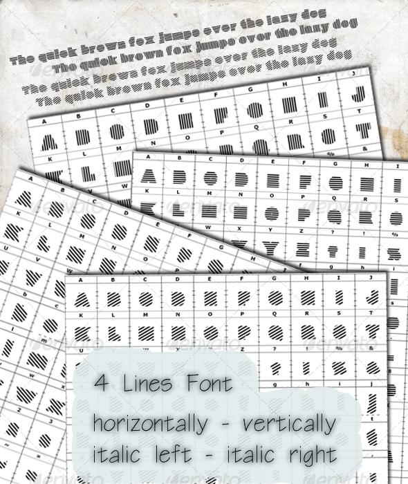 GraphicRiver Line Font 2078460