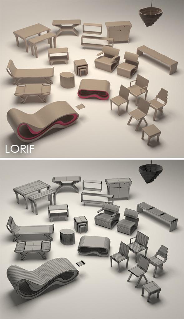 3DOcean Punkalive furniture set 238340