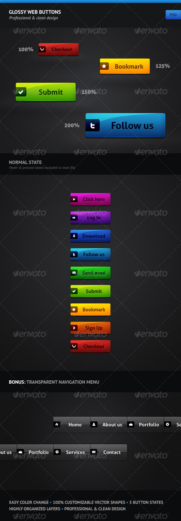 GraphicRiver Glossy Web Buttons 166208