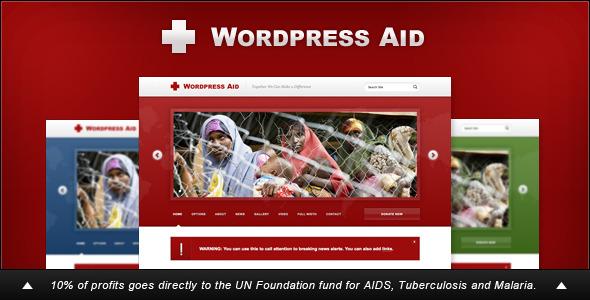 ThemeForest WordPress Aid Charity & Blog Theme 238405