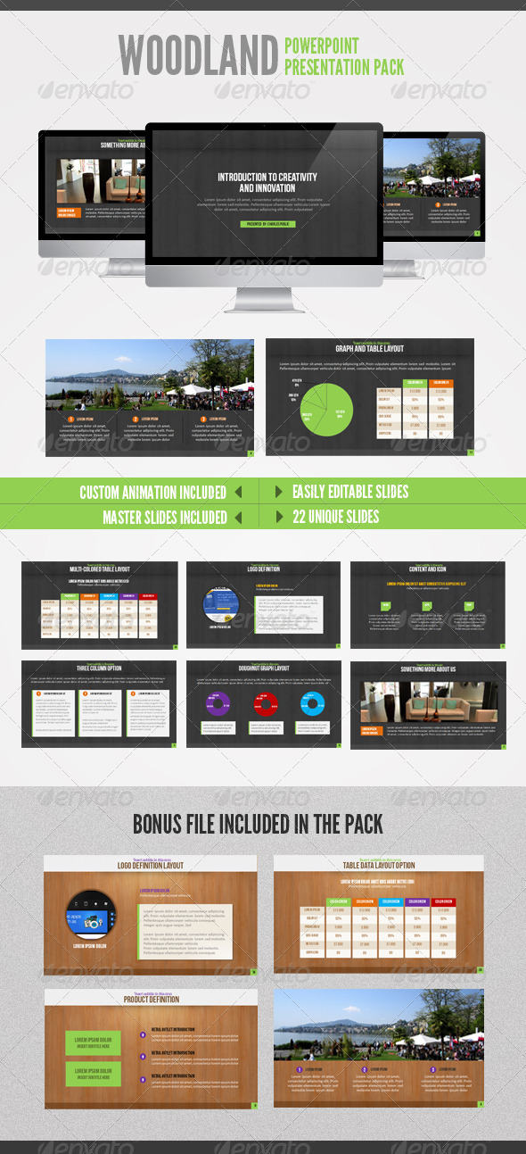 GraphicRiver Wood Land Powerpoint 2080920