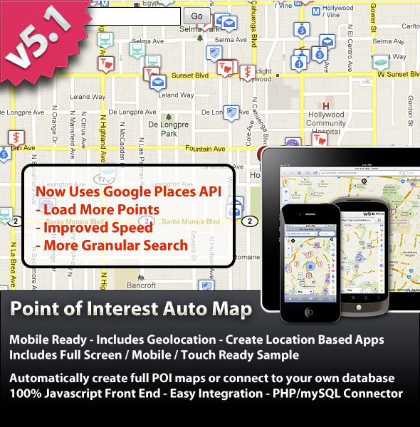 CodeCanyon Point Of Interest POI Auto Map 101599