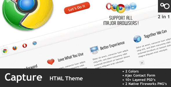 Capture - Premium HTML Theme