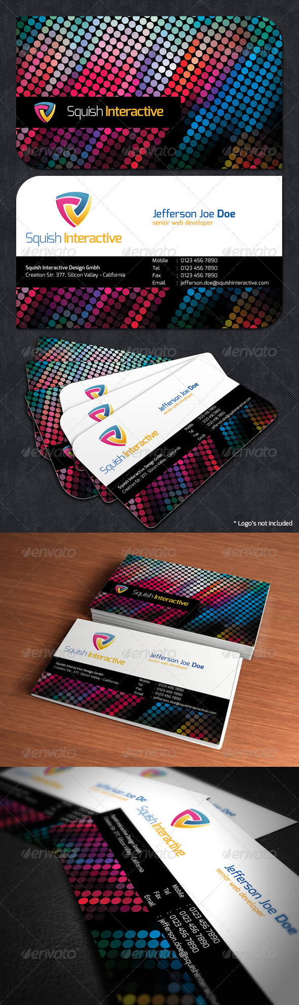 GraphicRiver Colorful Business Card 2081616