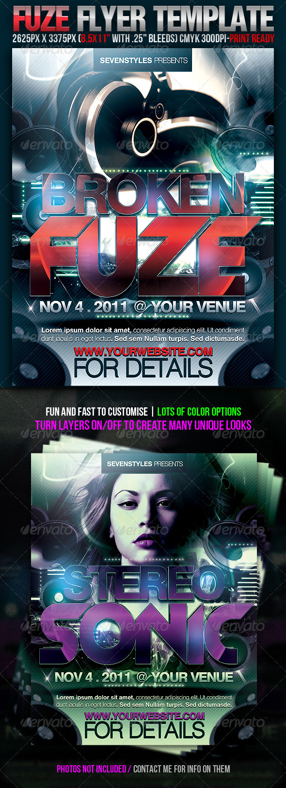 Fuze Flyer Template - Clubs & Parties Events