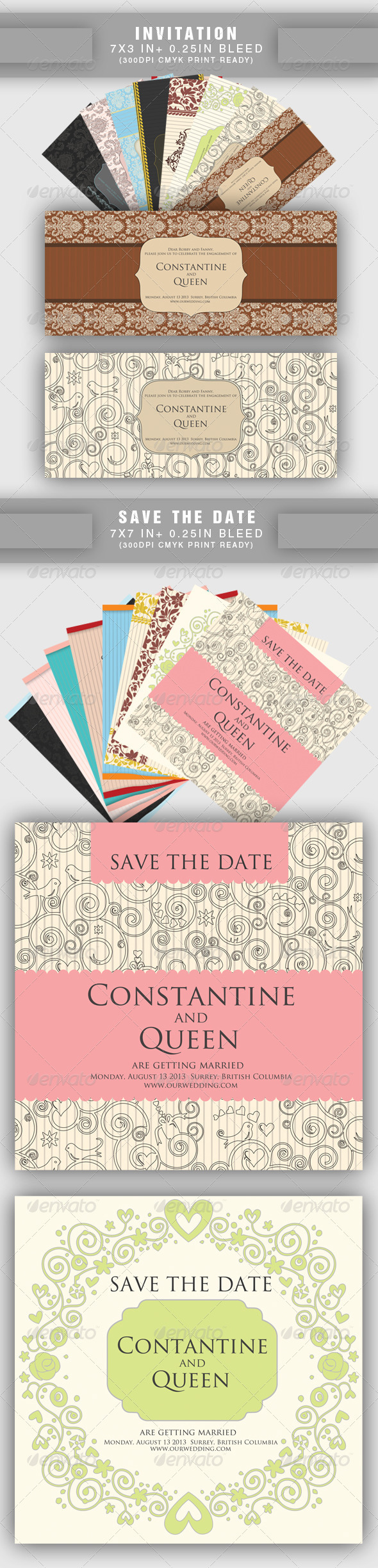 GraphicRiver 20 items Wedding Save the Date & Invitation 2081729