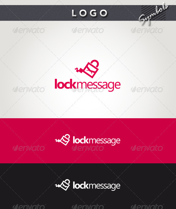 Lock Message Logo