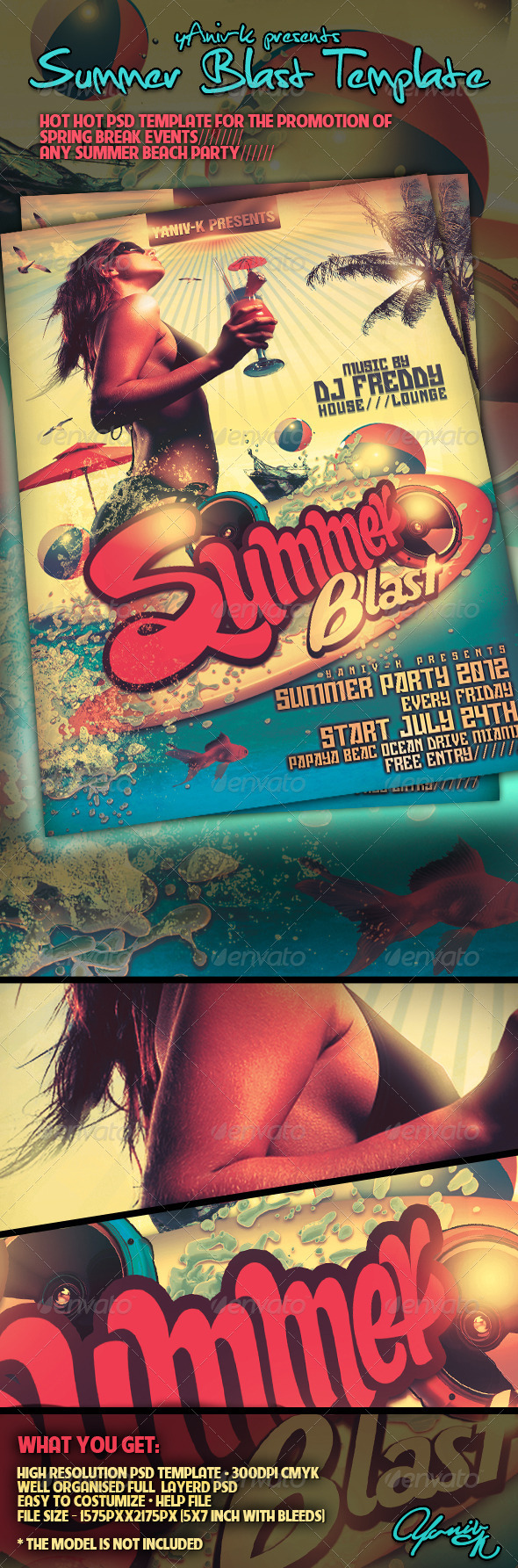 Summer Blast  Flyer Template - Flyers Print Templates