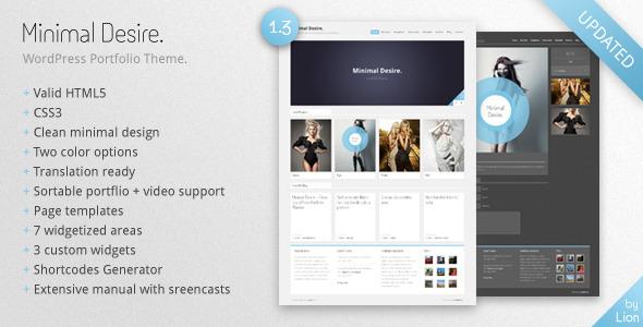 Minimal Desire - WordPress Portfolio Theme