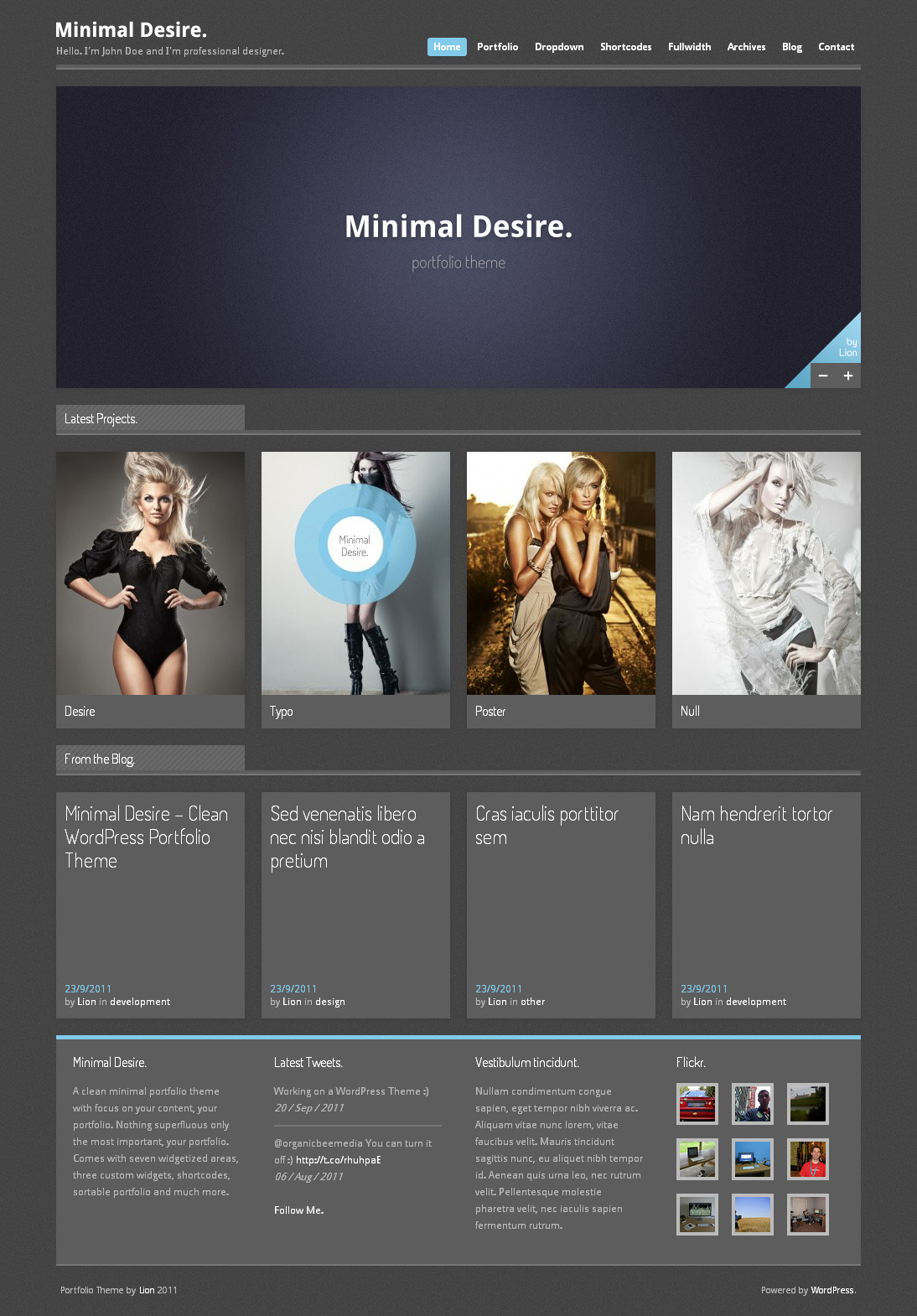 Minimal Desire - WordPress Portfolio Theme