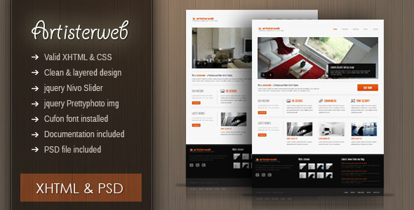ThemeForest Artister XHTML portfolio agency clean theme 2012835