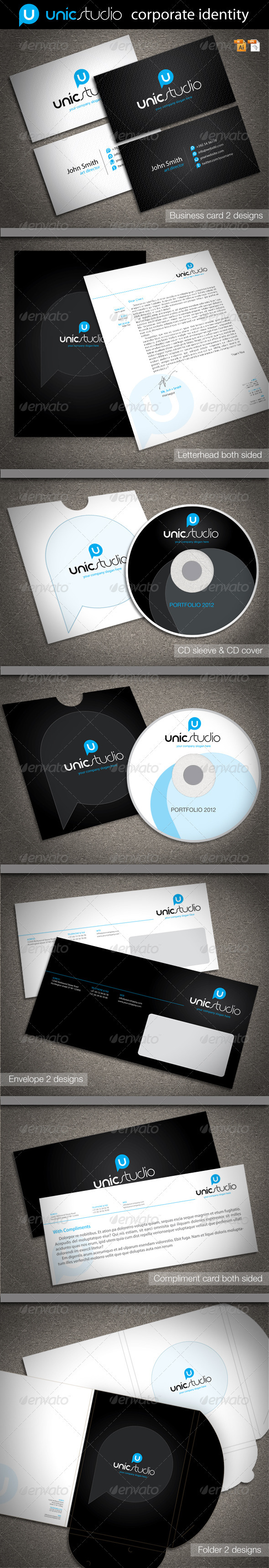 GraphicRiver Unic Studio Corporate Identity 2084281