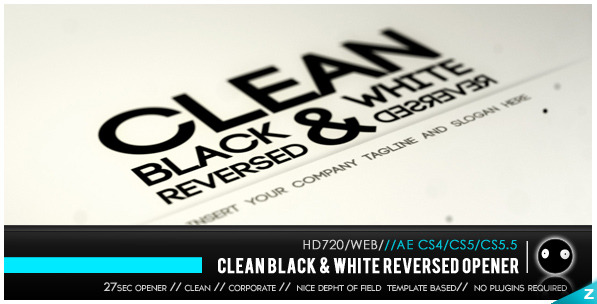 After Effects Project - VideoHive Clean Black & White Reversed 2084394