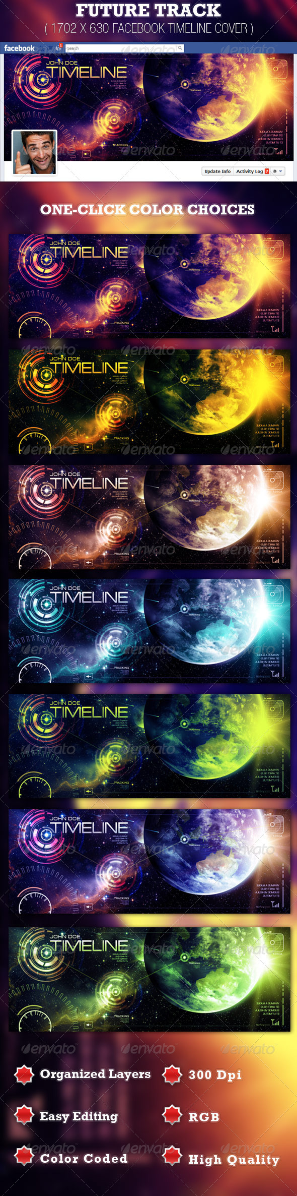 GraphicRiver Future Track Facebook Timeline Cover Template 2084395