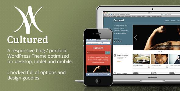 Cultured - A Responsive Blog / Portfolio Theme